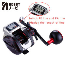 Digital LED Display Fishing Reel Lure Bait Casting 14 1BB 6.3:1 Ratio Metal Handle Baitcasting Reel 999m Fishing Line Control