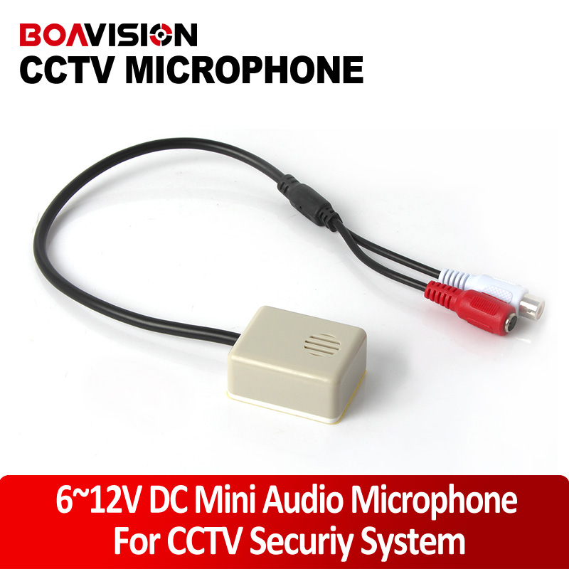 Audio Pick Up CCTV Mini Microphone Sound Monitor Work For Security Camera System Video Audio Recording CS-04A audio pick up cctv microphone mini microphone for camera f78