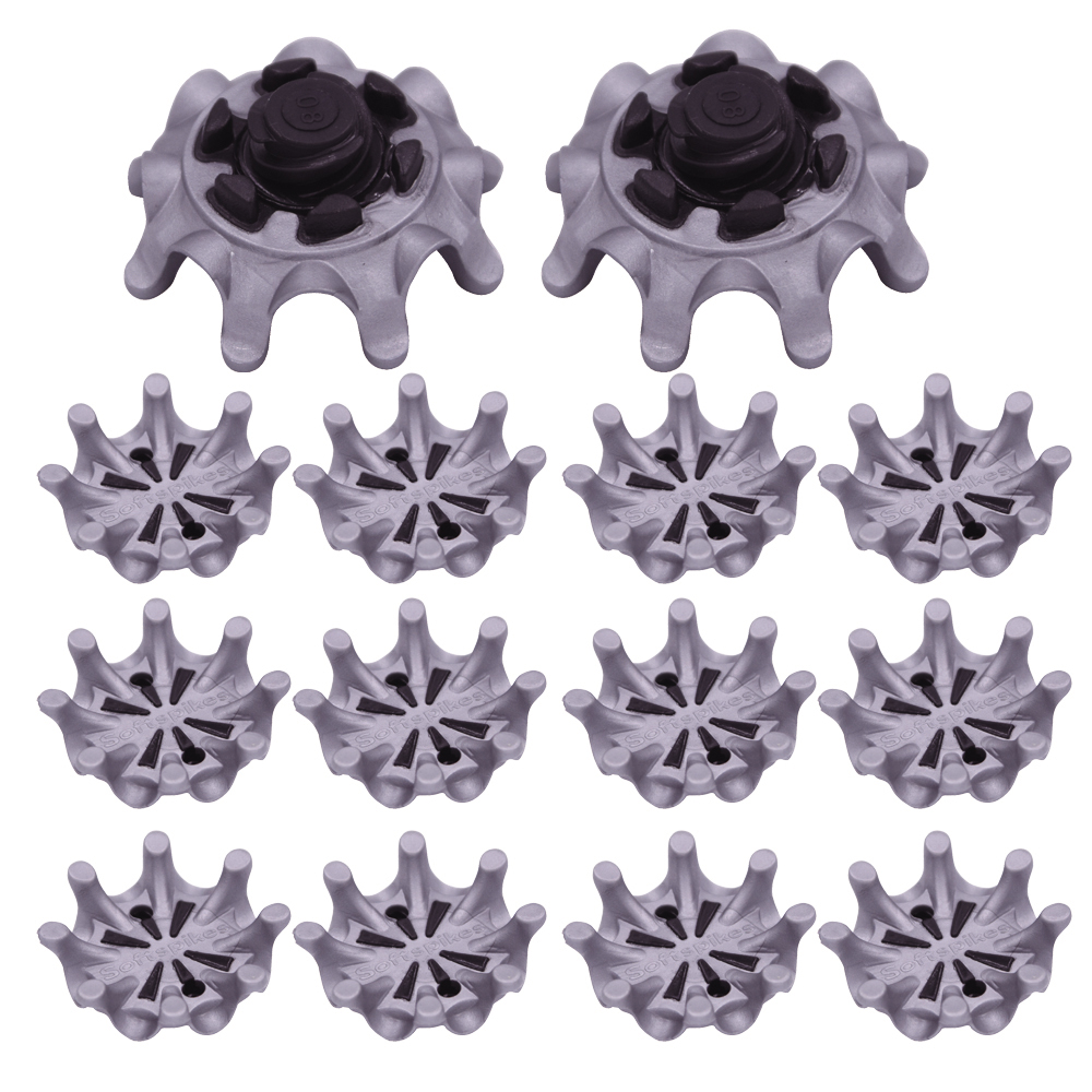 14pcs Golf Shoes Soft Spikes Pins 1/4 Turn Fast Twist Shoe Spikes Replacement Set Golf Training Aids