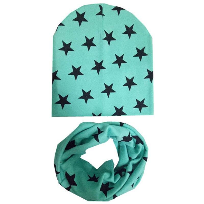 1 Set Cotton Baby Hat and Scarf Boy Caps Winter Girl Scarf Warm Neckerchief Kids Children Scarf O Ring Collar Baby Hat Scarf Set