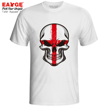 Mysterious Smile From England Skull UK Punk Culture T Shirt Brand Cartoon Cool T-shirt Active Novelty Casual Men Women Tee