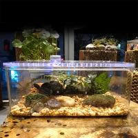 Plastic Transparent Fish Tank Insect Reptile Breeding Feeding Box Large Capacity Aquarium Habitat Tub Turtle Tank Platform