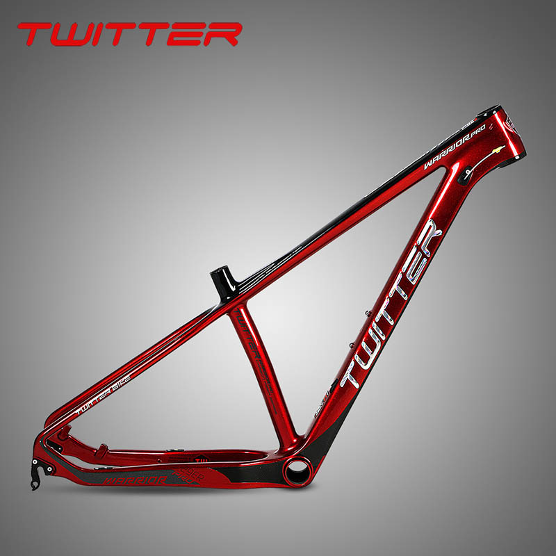 2018 New BRAVE WARRIOR Carbon Road Frame Mountain Bike Frame 29er Inner Line Cross-country Race Bicycle Frame Free Shipping