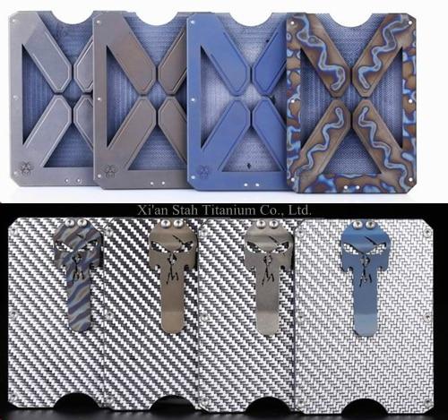 Titanium TC4 + Carbon fiber + G10 Lining EDC Card holder Money <font><b>Clip</b></font> Inside86*56.3*3.6mm 57g Anti-corrosion Scrap resistance