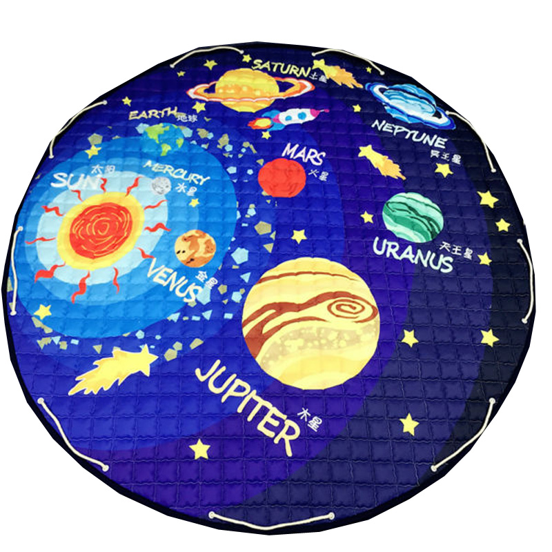 Solar system planets pattern polyester fabric quilting mat for Fabric planets solar system