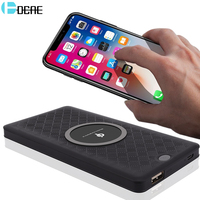 DCAE Qi Wireless Charger 6000Amh Power Bank For IPhone X 8 Samsung S9 Note8 S8 S7