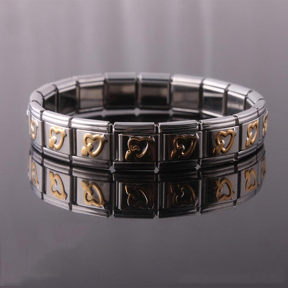 Fashion Health Energy Bracelet Men Black Stainless Steel Energy Balance Bracelet Magnetic Health Care Bracelets&Bangles Jewelry