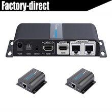 2 порта HDMI сплиттер extender более cat6 1080 P с ИК + HDMI loop out LKV712PRO до 50 м (1 Отправитель + 2 приемники в комплекте)