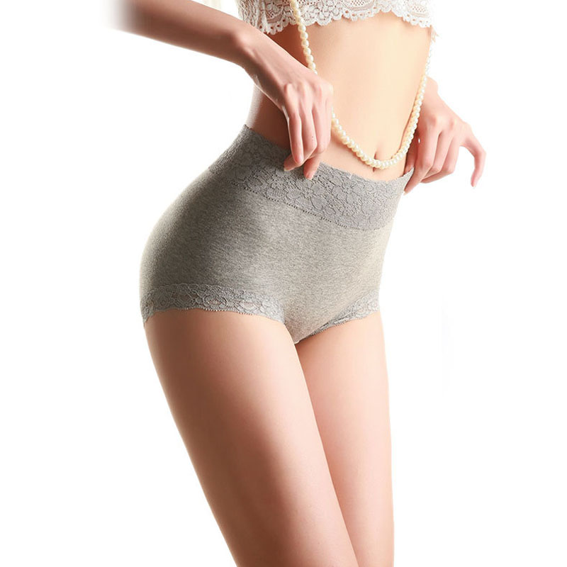 Womens Sexy Lace Panties High Waist Women Seamless Cotton Underwear Plus Size XXL Breathable Lingerie For Ladies Culotte Femme