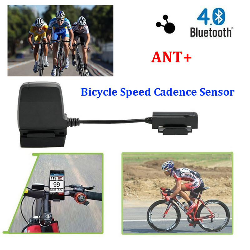 ANT+ Sensor Bike Bicycle <font><b>computer</b></font> speedometer Speed Cadence Sensor Bluetooth LE Smart Fitness for iPhone Wahoo Fitness MapMyRide