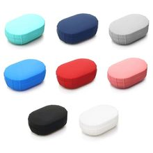 Silicone Case Protective Cover For Xiaomi Airdots TWS Bluetooth Earphone Youth Version Headset coodrony mandarin collar short sleeve tee shirt homme soft cool t shirt men 2019 summer new streetwear casual t shirt men s95072