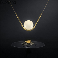 Nordic Creative V Shape Gold Pendant Lights Led Glass Ball Hanging Lamp Home Fixture Kitchen Lighting Industrial Decor Luminaire