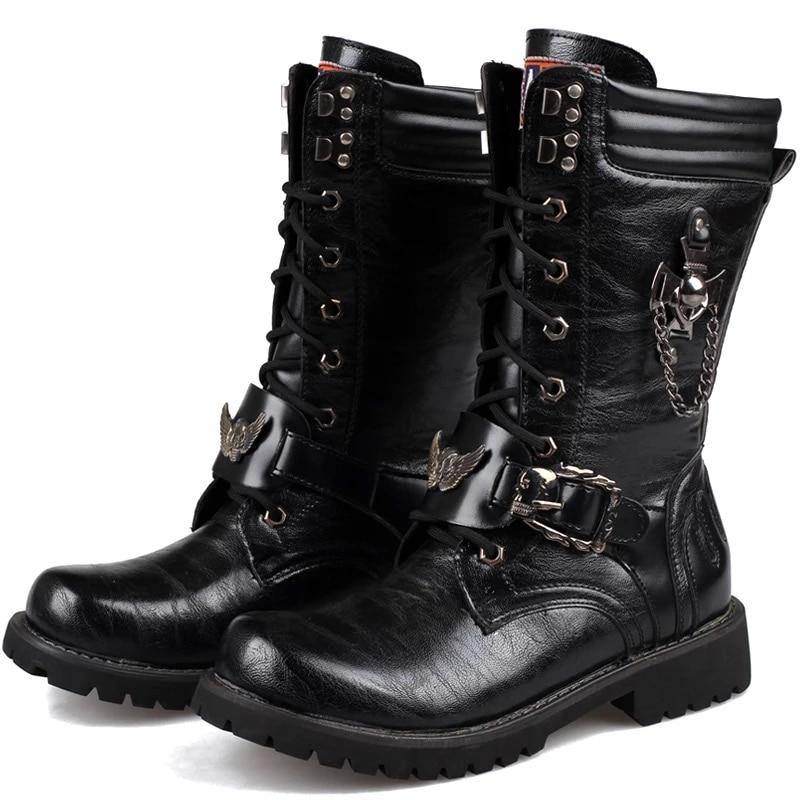 Popular Vintage Military Combat Boots Men-Buy Cheap Vintage ...