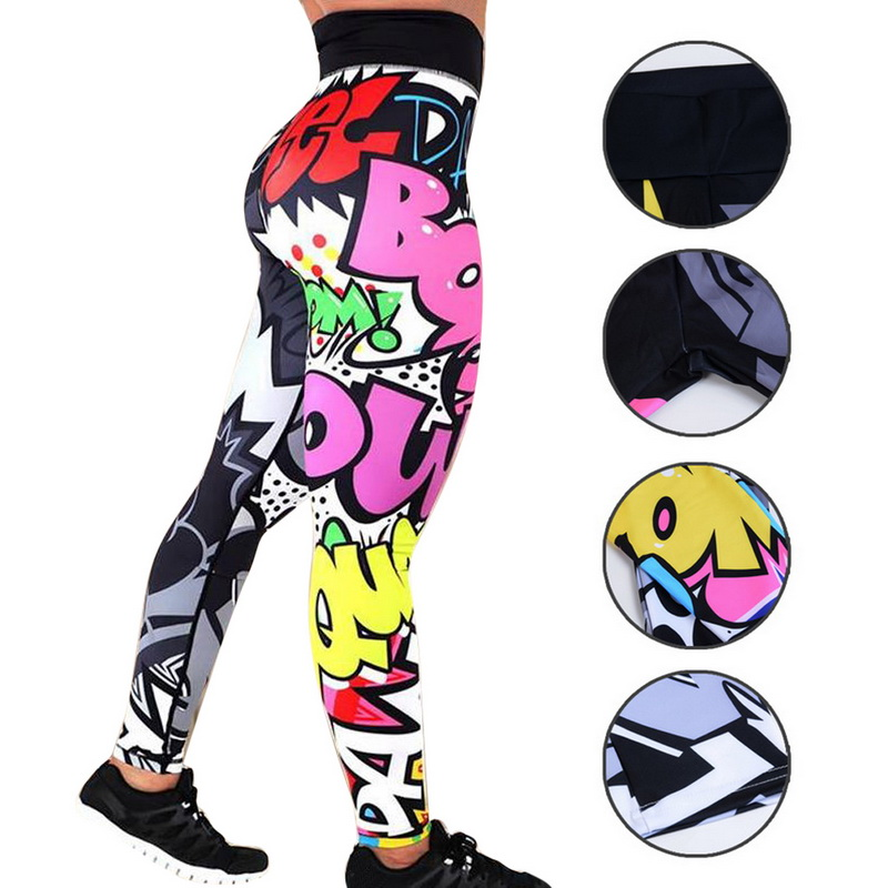 8 colors New Fitness Sport leggings Women Mesh Print High Waist Legins Femme Girls Workout Yoga Pants Push Up Elastic Slim Pants 70