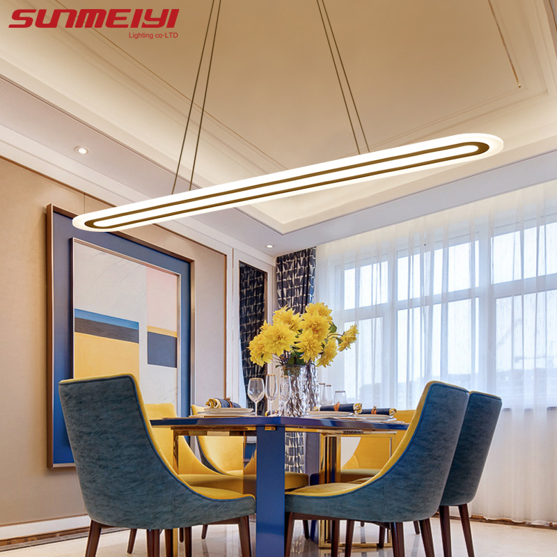 2019 Moderne LED Simple Pendant Lights Til Stue Spisestue Luster Pendant Lamp Hanging Ceiling Fixtures