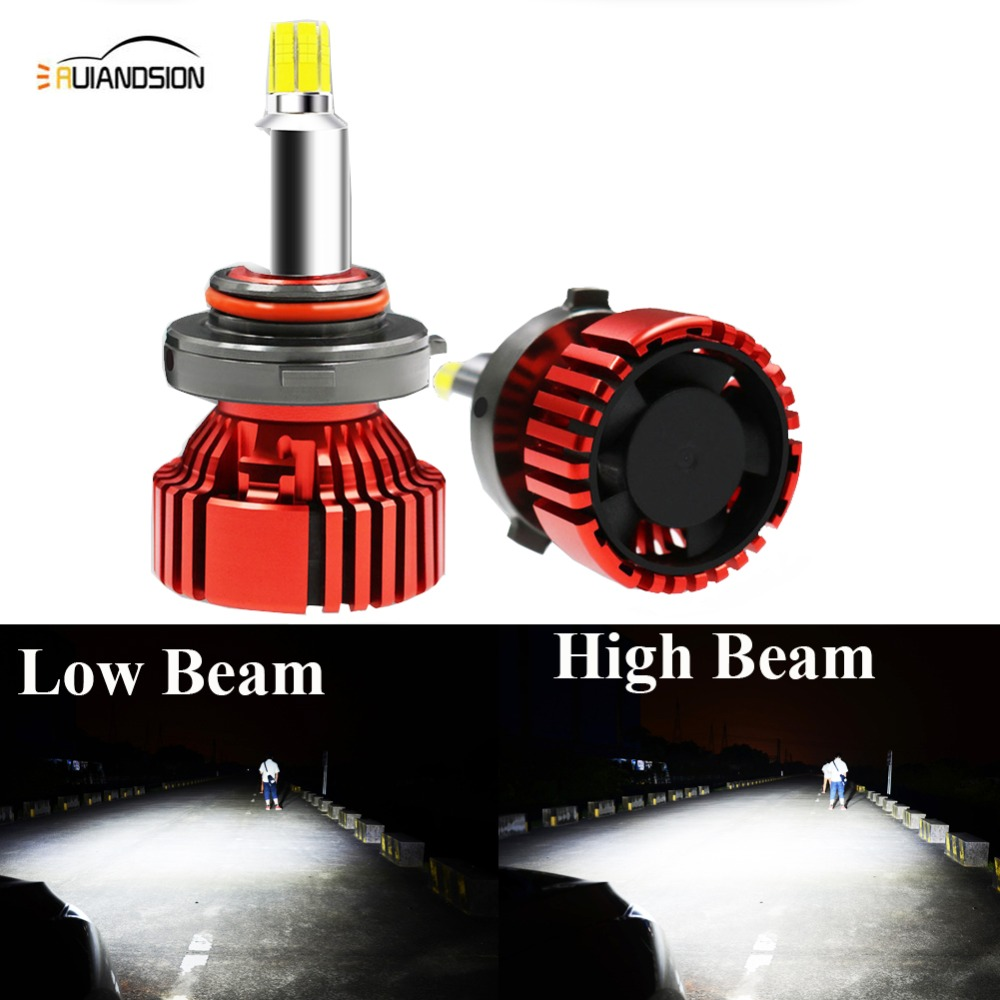 Paire 72 W H7 H1 H11/8 9005 9006 HB3 HB4 Turbo CREES LED voiture phare ampoule 9000lm Auto véhicule phare voiture style 12-30 v 6500 k