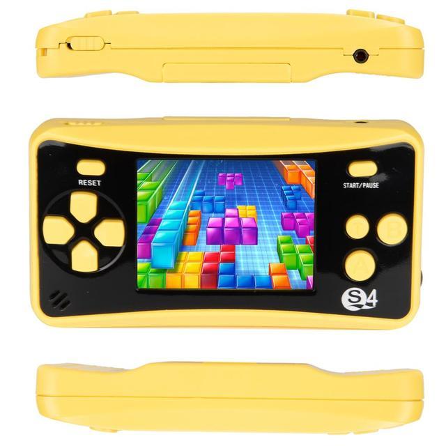 Mini TV Video Game Consoles JJFUN QS-4 Handheld Game Console AV Port Retro Built-in 182 Classic Games 2.5-inch LCD Player