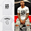 Isiah thomas jersey basket ball Fashion t shirt powers hombre 1.75cm thomas #4 Strongest surface letters print t-shirt,tx2410