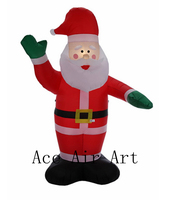 Inflatable Portable Xmas Christmas Santa Claus Blow Up Indoor and Outdoor Lawn Yard Home Decoration with Gift Box LED Light