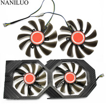 2 ชิ้น/ล็อต 95 มม.FDC10U12S9 C CF1010U12S Cooler พัดลมเปลี่ยนสำหรับ XFX AMD Radeon RX 580 590 RX580 RX590 กราฟิกการ์ดพัดลมระบายความร้อน