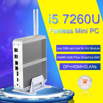 Eglobal Nuc Kaby Lake Fanless Mini PC Core i7 8550U/7560U i5 8250U/7260U Win10 Pro 4K HTPC Micro Computer Nettop HDMI VGA