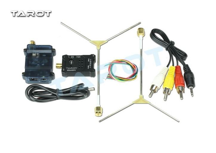 Tarot TL300N5 1.2G 600MW AV Wireless Wiring Transmitter Receiver TX RX Set with 1.2G Antenna for FPV new boscam fpv 5 8g 5 8ghz 2000mw 2w 32 channels wireless av transmitter automatic signal serch tx58 2w for fpv support fatshark