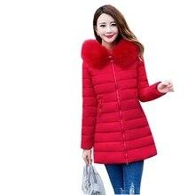 Lady snow coat Plus Size 6XL Winter Jacket Women's 2017 Fur Collar Thick Warm Cotton Parka For Women Winter Jacket Coat Female