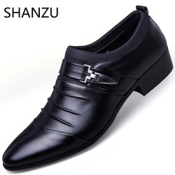 Luxury Brand Leather Mens Formal Shoes Dress Shoes Fashion Oxford Business Design Oxford Wedding Shoes For Male