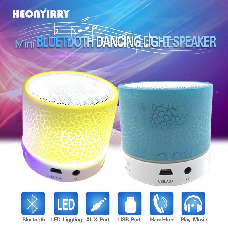 Portable Bluetooth Speakers Wireless LED Mini Soundbar Music Audio TF FM Light Stereo Sound Speaker For Phone Xiaomi with Mic