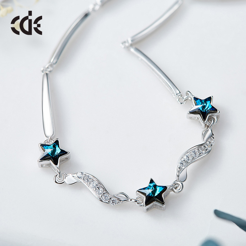 Cdyle Bracelets Women Bracelet For Women Bangle Austrian Rhinestone S925  Sterling Silver Fashion Jewelry Elegant Chic Bijous New 3b66c0a0768f