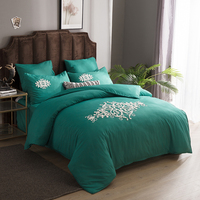 Alanna 6pcs Bedding set Europe style Solid Flowers Cotton Embroidery comforter Bed sets sheet quilt cover pillowcase