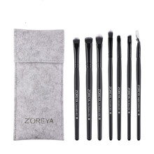 цена на 7pcs / set Black Quality Eye Makeup Brushes Professional Eye Shadow  Eyebrow Eyeliner Combination Makeup Brush Set