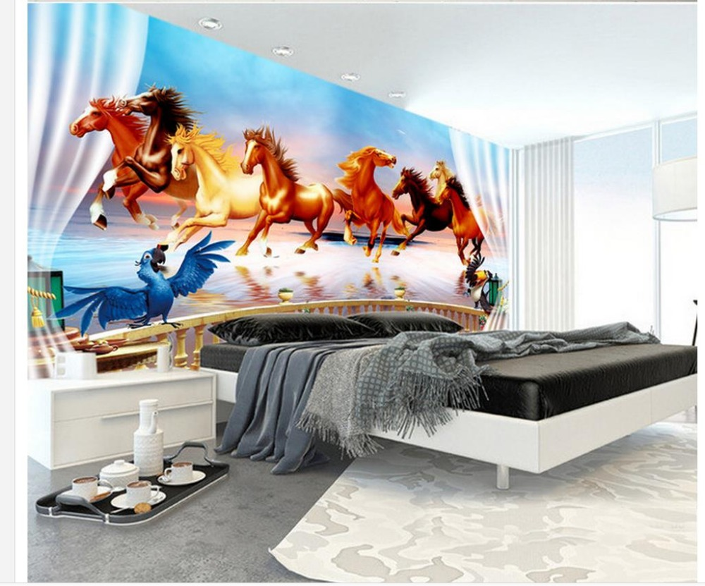 custom wall mural Modern art painting high quality mural wallpaper Horse wallpaper 3d mural for living room book knowledge power channel creative 3d large mural wallpaper 3d bedroom living room tv backdrop painting wallpaper