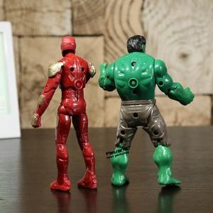 Image 5 - Super héros Iron Man la chose Hulk Captaib amérique Spiderman PVC figurines jouets 5 pièces/ensemble HRFG398