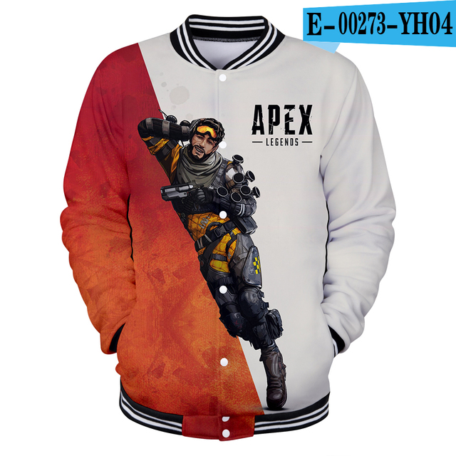 US $14.88 40% OFF|3D Apex Legends baseball jacket bomber jacket men uniform long sleeve streetwear winter mens jackets and coats tracksuit in Jackets