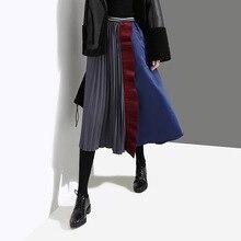 Spring and Summer New womens Wild Half Skirt High Waist Pleated A word