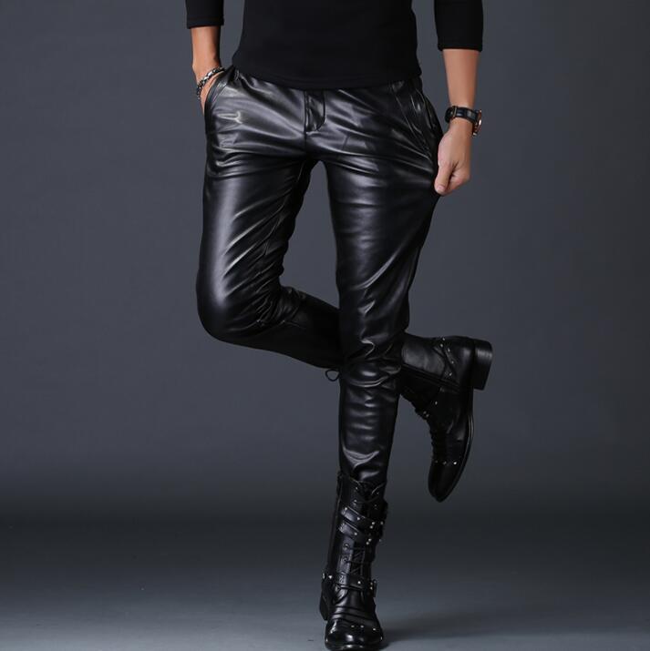 100% QualitäT Motorrad Faux Leder Hosen Mens Harem Hosen Winddicht Persönlichkeit Mode Pu Hosen Für Männer Pantalon Homme Herbst Winter