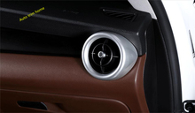 LAPETUS Interior Refit Kit Fit For Alfa Romeo Stelvio 2017 2018 2019 2020 Dashboard AC Air Outlet Vent Ring Frame Cover Trim lapetus interior refit kit for alfa romeo stelvio 2017 2018 2019 abs steering wheel strip lid cover trim carbon fiber style