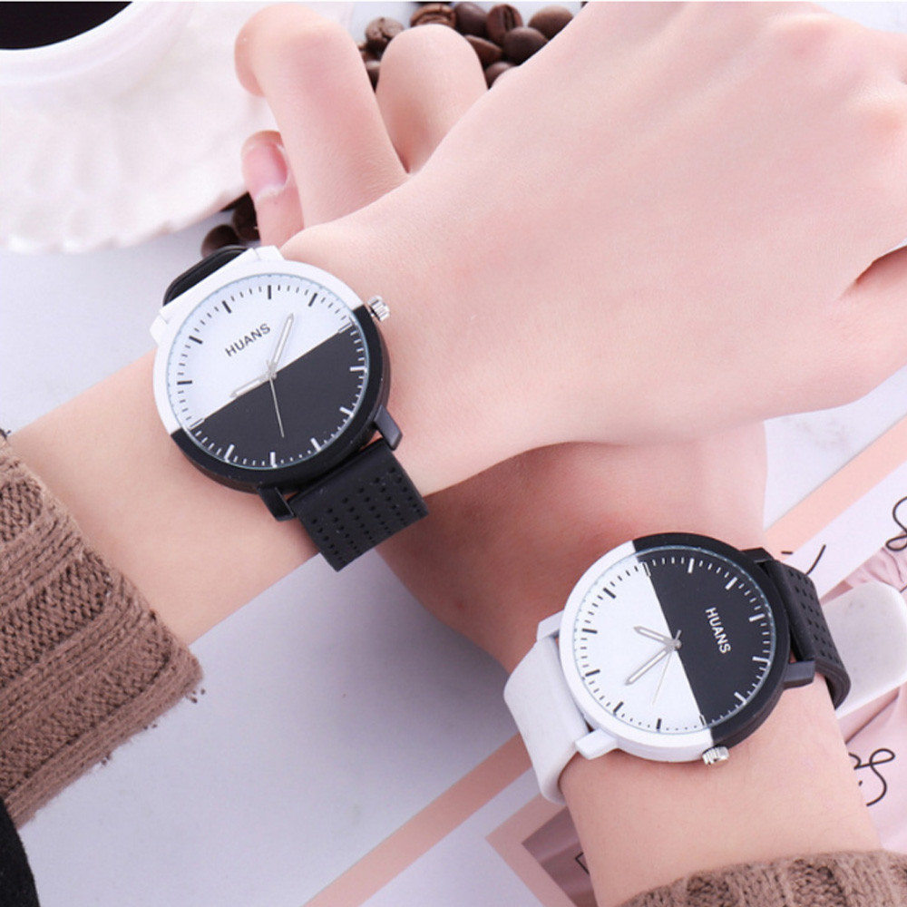 Unisex Men's Women's Watches Lover's Watch Personality Circular Dial Silica Gel Quartz Lovers Watches relogio feminino *60
