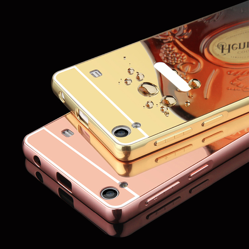 Phone Case For Lenovo A6000 Case Luxury Rose Gold Mirror