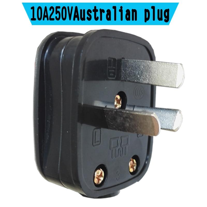 Au Australian 3 Pins Electrical Power Male Plug W   Wire