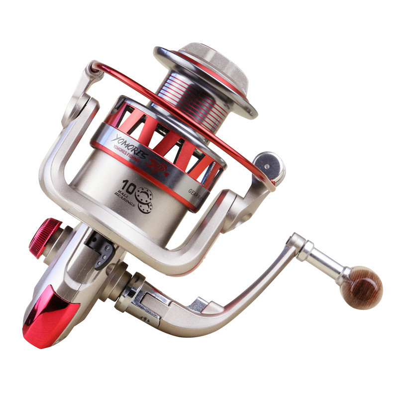 Folding Spinning Fishing Reels Wheel Spinning Reel DF1000-7000 10BB 5.5:1High Speed Left/Right Hand Baitcasting carretilha
