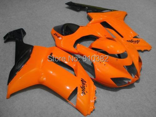 Motorcycle Fairing Kit For KAWASAKI Ninja ZX6R 07 08 636 2007 2008 Fashion Orange Black