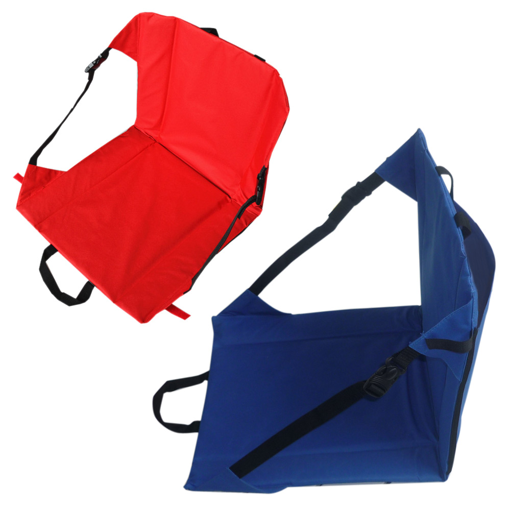 Portable Foldable Camping Chair Lightweight Hiking Stool Seat Cushion Mat With Magic Tape For Fishing Picnic Bbq Outdoor Party