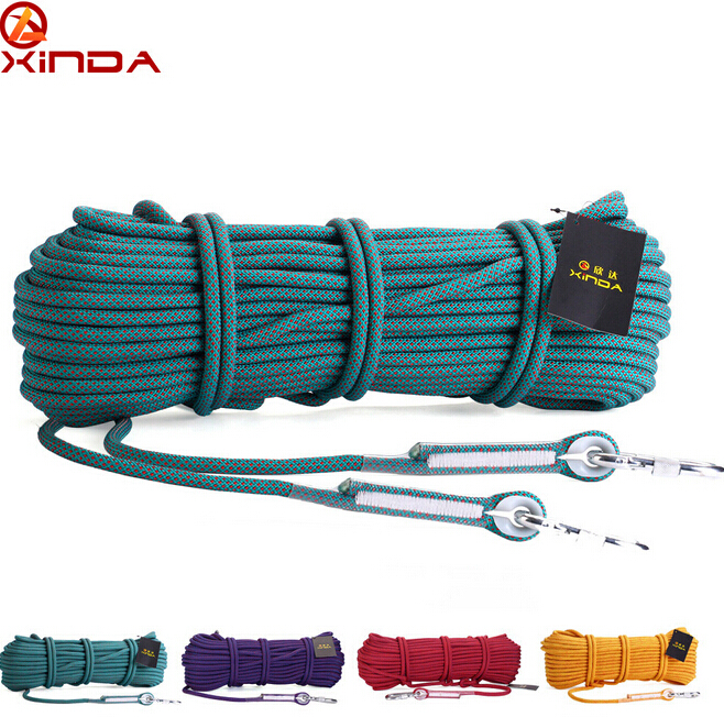 ФОТО XINDA Escalada 10M Professional Rock Climbing Rope Rappelling 10.5mm Diameter 25KN High Strength Cord Safety Rope Survival Rope