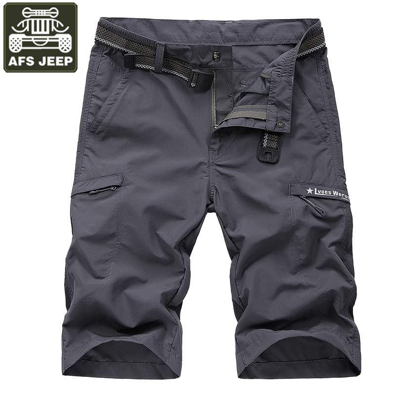 AFS JEEP Brand   Shorts   Men Military Casual   Short   Homme Quick Dry Thin Bermudas Masculina Beach   Shorts   Plus Size L-4XL Men   Short
