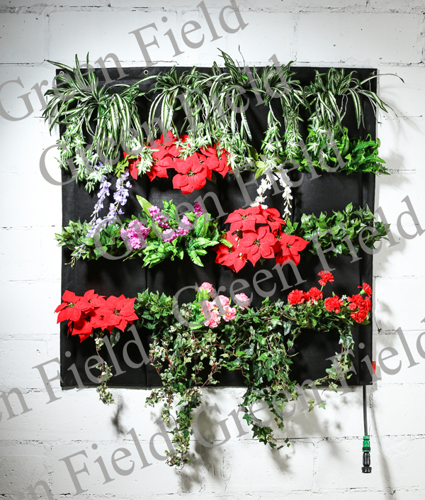 16 Pockets Felt Vertical Living Wall Garden Blanket Living Wall Planter  Irrigation Self Watering Vertical Garden Wall Planter In Flower Pots U0026  Planters From ...