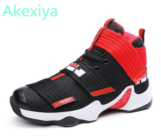 uk availability 7b41e ea913 US $27.29 30% OFF|Men Shoes Lebron James Shoes High top Sneakers  Professional Ankle Shoe Air cushion Shockproof basket homme baloncesto-in  Basketball ...