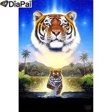 DIAPAI 100% Full Square/Round Drill 5D DIY Diamond Painting Animal tiger Diamond Embroidery Cross Stitch 3D  Decor A18911 diapai 100% full square round drill 5d diy diamond painting animal tiger diamond embroidery cross stitch 3d decor a18678