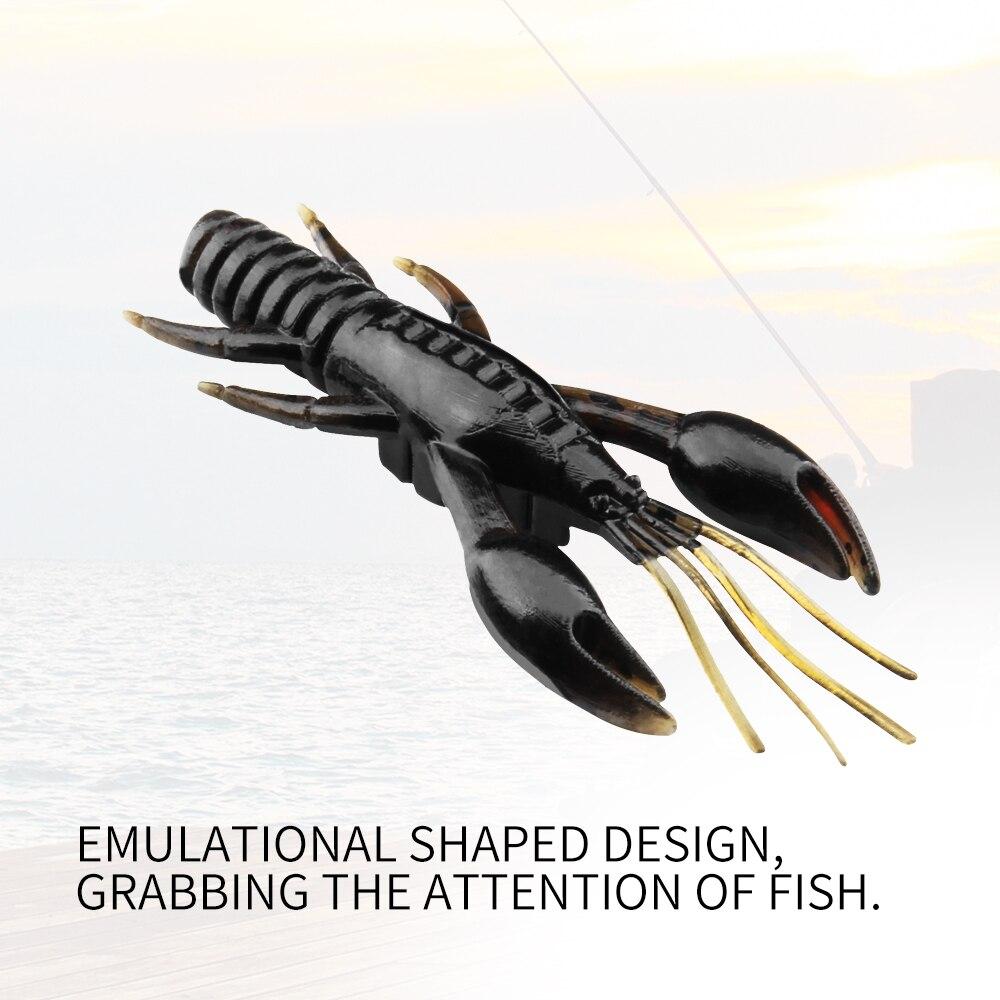 4 Pcs//set Minnow Soft Bait Artificial Fishing Lure Worm Shrimp Tackle Kit YF